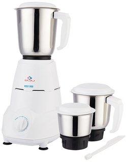 Bajaj-Rex-500-Watt-Mixer-Grinder-with-3-Jars-White