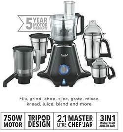 Preethi-Zodiac-MG-218-750-Watt-Mixer-Grinder-with-5-Jars-Black-Light-Grey