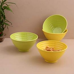 Iveo-Melamine-Serving-Bowl-Set-4-Pieces-YellowGreen